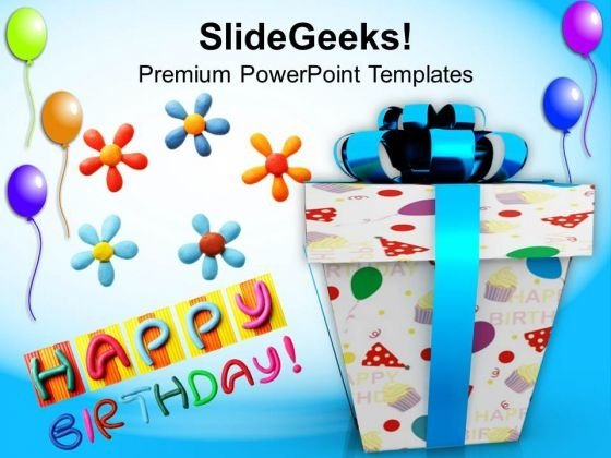 Happy Birthday Gift Balloons Events Powerpoint Templates And Themes 1112 Title