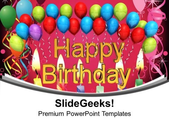 Happy Birthday With Balloons Party PowerPoint Templates Ppt Background For Slides 1112
