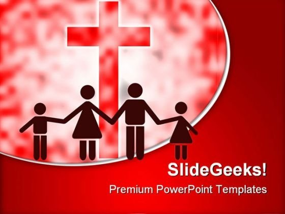 Happy Christian Family PowerPoint Templates And PowerPoint Backgrounds 0811