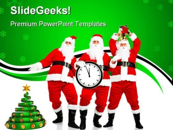 Happy Christmas01 Festival PowerPoint Templates And PowerPoint Backgrounds 0711