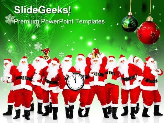 Happy Christmas Festival PowerPoint Templates And PowerPoint Backgrounds 0711