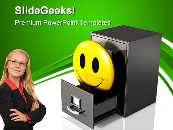 Happy Database Business PowerPoint Themes And PowerPoint Slides 0711
