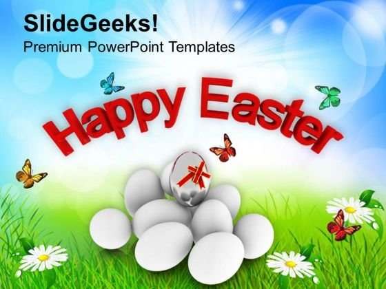 Happy Easter Day Religious Festival PowerPoint Templates Ppt Backgrounds For Slides 0313