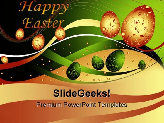 Happy Easter Festival PowerPoint Themes And PowerPoint Slides 0211