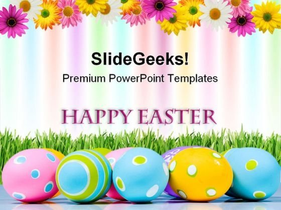 Happy Easter Festival PowerPoint Themes And PowerPoint Slides 0711