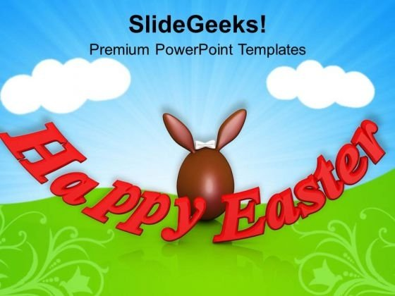 Happy Easter Religious Festival PowerPoint Templates Ppt Backgrounds For Slides 0313