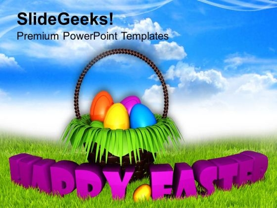 Happy Easter Wishes With Bright Sky Theme PowerPoint Templates Ppt Backgrounds For Slides 0313