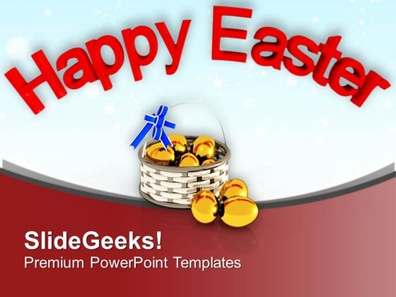 Happy Easter Wishes With Surprise Eggs PowerPoint Templates Ppt Backgrounds For Slides 0813
