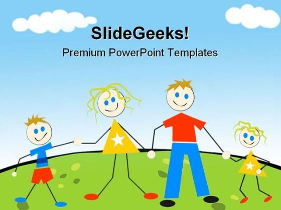 Happy Family Abstract PowerPoint Templates And PowerPoint Backgrounds 0611
