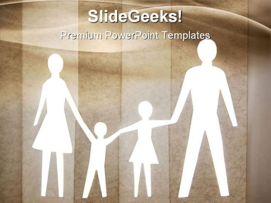 Happy Family Abstract PowerPoint Templates And PowerPoint Backgrounds 0811