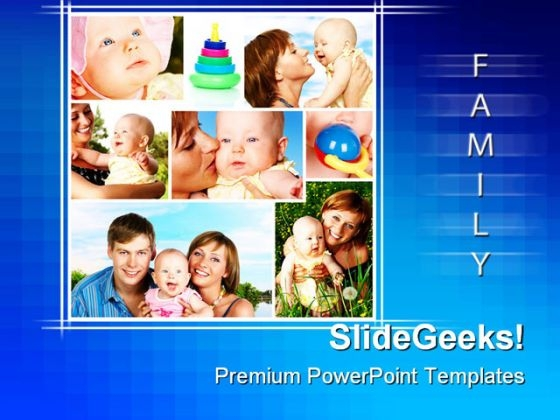 Happy Family Children PowerPoint Templates And PowerPoint Backgrounds 0411