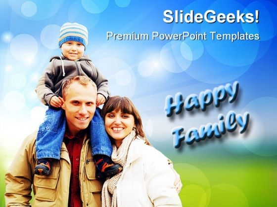 Happy Family People PowerPoint Themes And PowerPoint Slides 0411