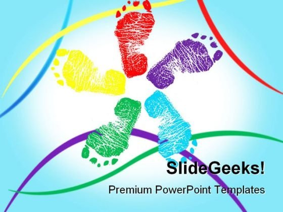 Happy Feet Symbol PowerPoint Templates And PowerPoint Backgrounds 0711