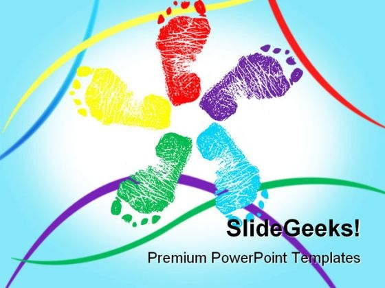 Happy Feet Symbol PowerPoint Themes And PowerPoint Slides 0711