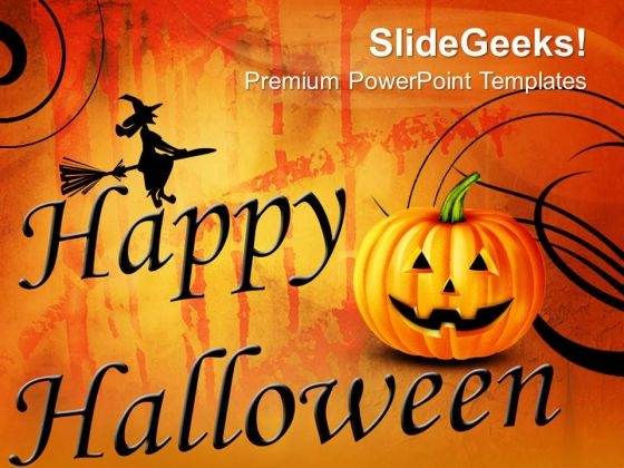 Happy Halloween Abstract PowerPoint Templates And PowerPoint Themes 0812