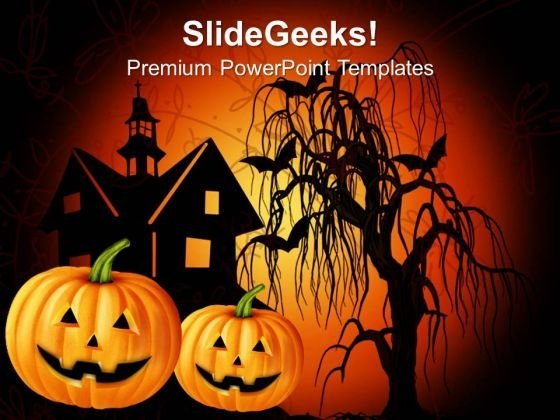 Happy Halloween Festival PowerPoint Templates And PowerPoint Themes 1012