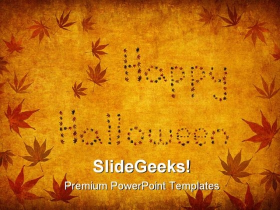 Happy Halloween Festival PowerPoint Themes And PowerPoint Slides 0511