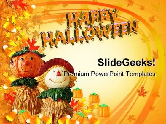 Happy Halloween Holidays PowerPoint Template 1010