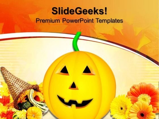 Happy Halloween Pumpkin Autumn Nature PowerPoint Templates And PowerPoint Themes 0912