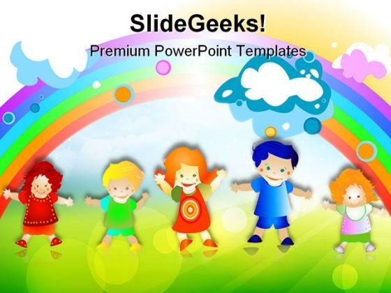 Happy Kids Children PowerPoint Templates And PowerPoint Backgrounds 0511