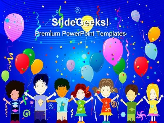 Happy Kids Entertainment PowerPoint Templates And PowerPoint Backgrounds 0711