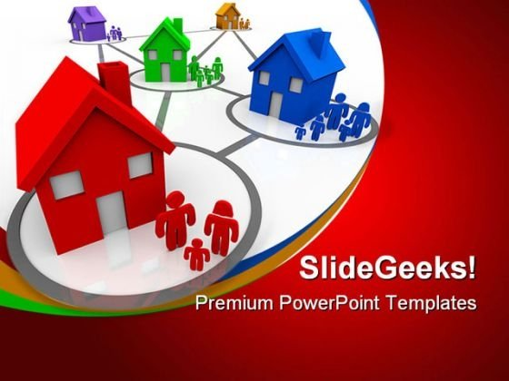 Happy Neighbours Family PowerPoint Themes And PowerPoint Slides 0811