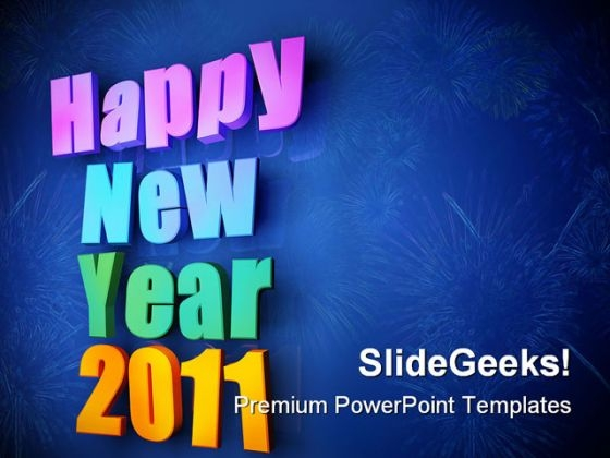 Happy New Year02 Festival PowerPoint Backgrounds And Templates 1210