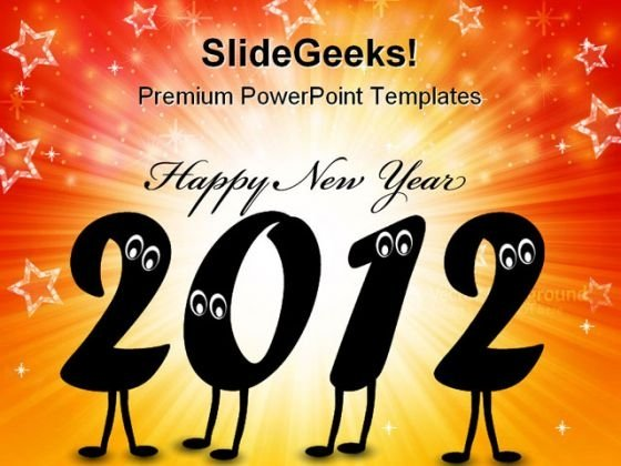 Happy New Year 2012 Festival PowerPoint Templates And PowerPoint Backgrounds 1211