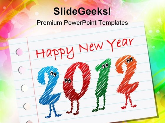 Happy New Year 2012 Holidays PowerPoint Templates And PowerPoint Backgrounds 1211