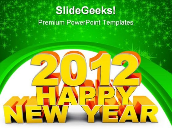 Happy New Year Abstract PowerPoint Templates And PowerPoint Backgrounds 1011