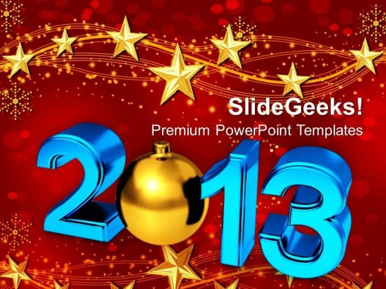 Happy New Year Celebration Holidays Powerpoint Templates Ppt