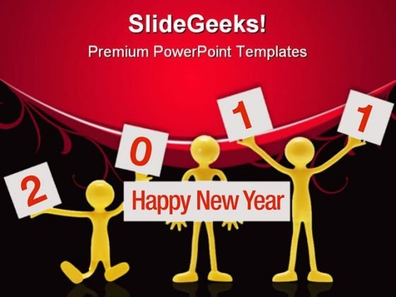 Happy New Year Festival PowerPoint Themes And PowerPoint Slides 0411