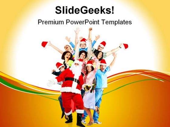 Happy People Christmas PowerPoint Themes And PowerPoint Slides 0711