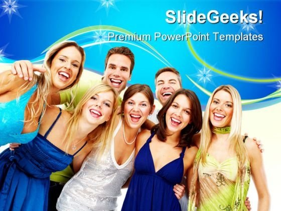 Happy People Youth PowerPoint Templates And PowerPoint Backgrounds 0611