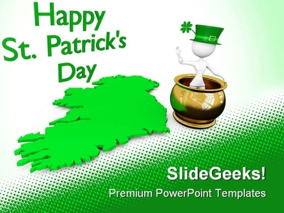 Happy St Patrick Day Events PowerPoint Themes And PowerPoint Slides 0411