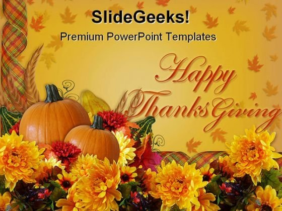 Happy Thanks Giving Holidays PowerPoint Template 1010