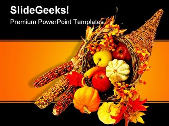 Happy Thanksgiving Religion PowerPoint Template 0610