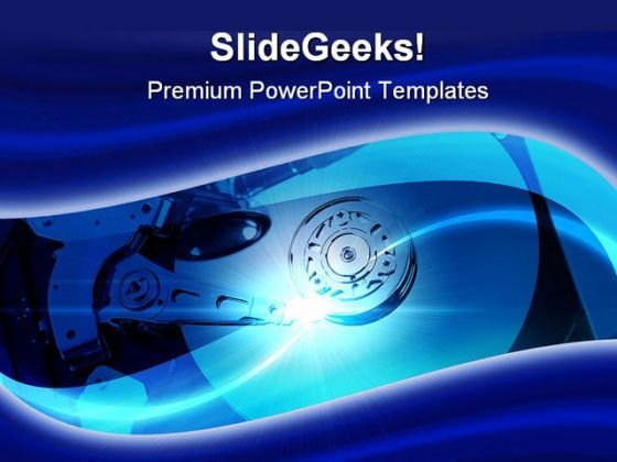 Hard Drive Computer PowerPoint Templates And PowerPoint Backgrounds 0311