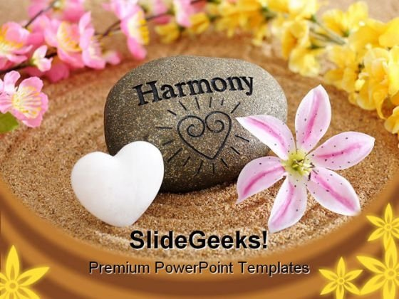 Harmony Spa Beauty PowerPoint Template 0810