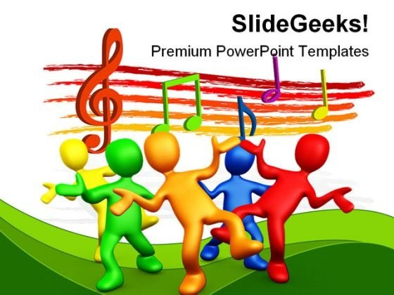 Having Fun Music PowerPoint Backgrounds And Templates 1210