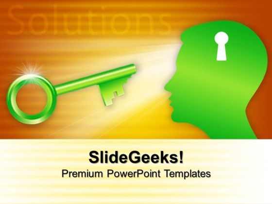 Head With Key Solutions Business PowerPoint Templates And PowerPoint Themes 0712