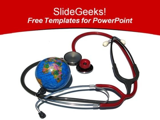 Medical Health PowerPoint Template with Globe