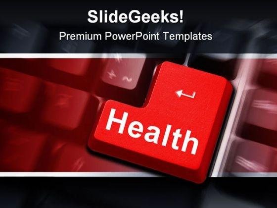 Health Keyboard Internet PowerPoint Template 0610