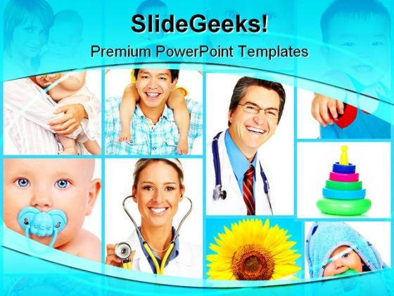 Healthy Babies Medical PowerPoint Themes And PowerPoint Slides 0811