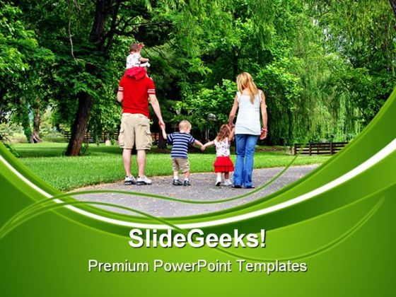 Healthy Family PowerPoint Themes And PowerPoint Slides 0411