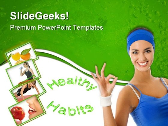 Healthy Habits People PowerPoint Themes And PowerPoint Slides 0911