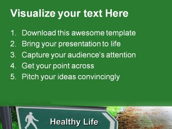 healthy_life_signpost_nature_powerpoint_themes_and_powerpoint_slides_0511_text