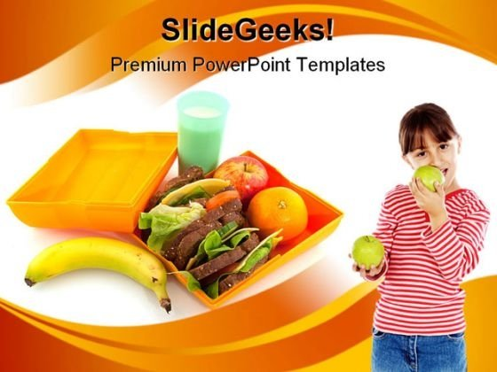 Healthy Lunch Box Health PowerPoint Templates And PowerPoint Backgrounds 0211
