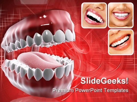 Healthy Teeth Medical PowerPoint Template 0610