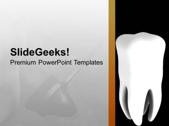 Healthy Tooth PowerPoint Templates Ppt Backgrounds For Slides 0713